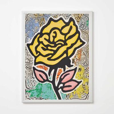 Donald Baechler, 'Yellow Rose', 2015