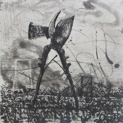 William Kentridge, 'West Coast Series (Set of 5 Prints), Seceteurs', 2010