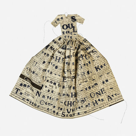 Lesley Dill, 'Poem Dress, The Soul Selects Her Own Society', 1993