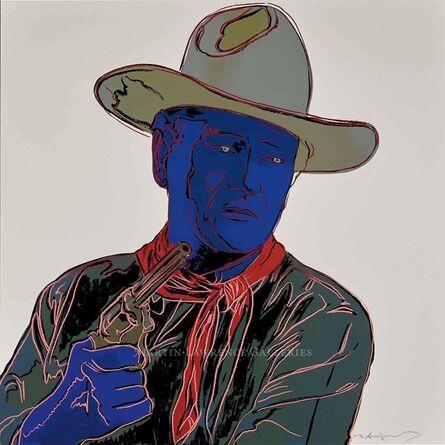 Andy Warhol, 'John Wayne, 1986 (#377, Cowboys & Indians)', 1986