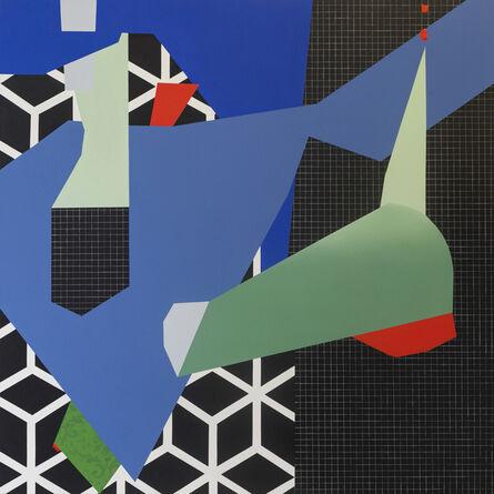 Ana Elena Garuz, 'Cuarto negro con forma azul', 2020