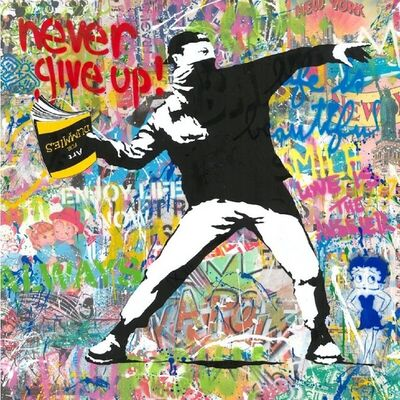 Mr. Brainwash, 'Banksy Thrower with Betty Boop', 2020