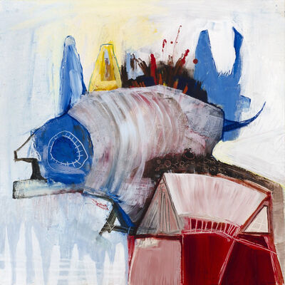 Cheryl Finfrock, 'The Fish Lives Large in the Small Red House', 2013