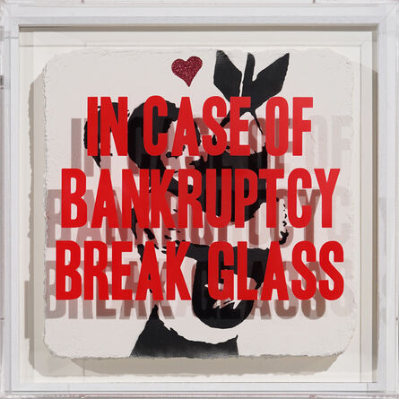 Thirsty Bstrd, 'In Case of Bankruptcy - Banksy Bomb Hugger Red Glitter', 2020