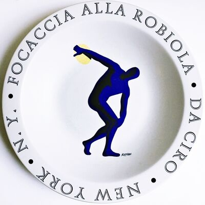 Mark Kostabi, 'Focaccia Alla Robiola - Da Ciro - New York, NY', 1998