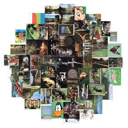 "James Vance, '""Green Postcards""', 2018"