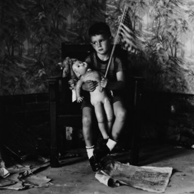 Ralph Eugene Meatyard, 'Untitled (Boy with Flag) [Christopher and the Rebuilding of America]', 1959/1974