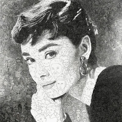 Keita Sagaki, 'Hystorical Portraits vol. 5 - Audrey Hepburn', 2020