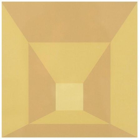 Josef Albers, 'Mitered Squares - Butter', 1976