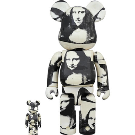 BE@RBRICK, 'Andy Warhol Double Mona Lisa (B/W) 400% + 100%', 2019