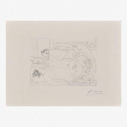 Pablo Picasso, 'Le Repos du Sculpteur III from La Suite Vollard', 1933