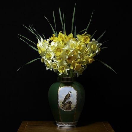 T.M. Glass, 'Narcissus in a Green Falcon Vessel', 2018
