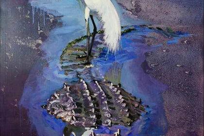 Rotte pittoriche by Oleksii Gnievyshev, solo exhibition at Immagini Spazio Arte, Cremona