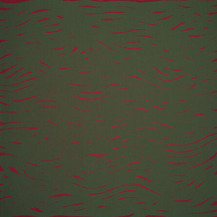 Sol LeWitt, 'Horizontal Bands (More or Less) Red/Green', 2002