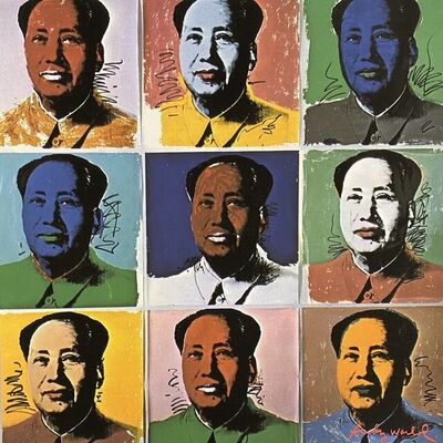 Andy Warhol, 'Nine Mao', 1986