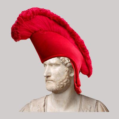 Cecilia Miniucchi, 'Roman Emperor Adrian/Red Tibetan Hat', 2018