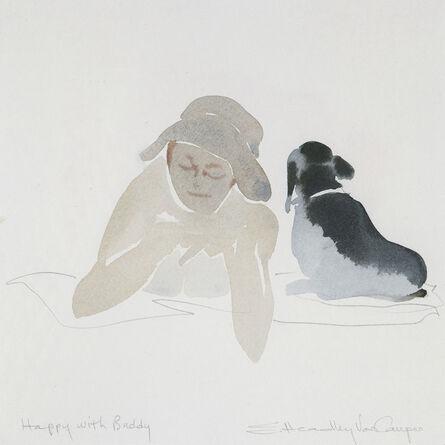 Susan Headley Van Campen, 'Happy with Buddy'