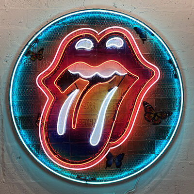 "RISK, '72"" Round Tongue 1 ', 2017"