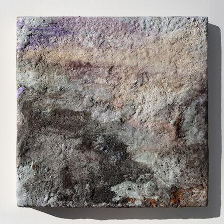 """Orazio De Gennaro, '""""Terra Bruciata - Alba II"""" - Small Abstract Purple and Grey Painting', 2017"""