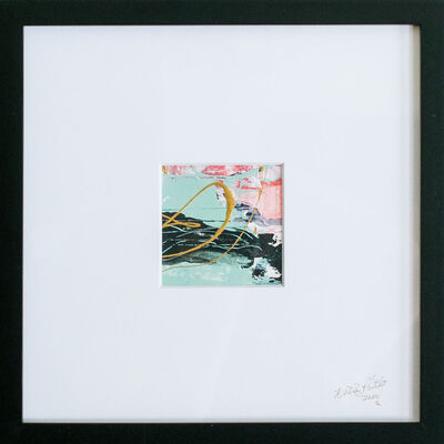 Whitney Pintello, 'California Gold No. 3- Contemporary Small Scale Abstract Painting', 2020