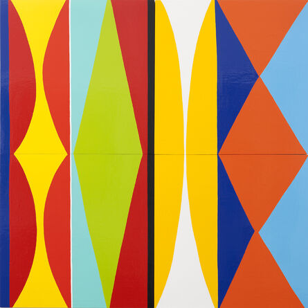 Kim MacConnel, 'Four Panel Rabbit', 2010