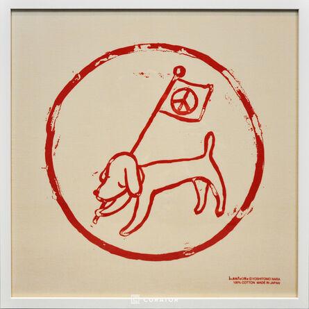 Yoshitomo Nara, 'Peace Flag and Puppy', 2001