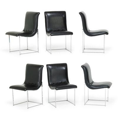 Milo Baughman, 'Six Dining Chairs, NC', 1980s