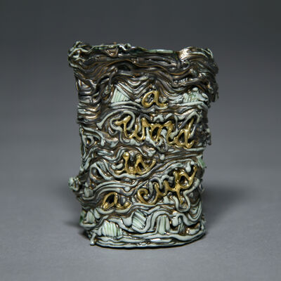 Stephanie Lanter, 'Word Cup (green/gold)', 2020
