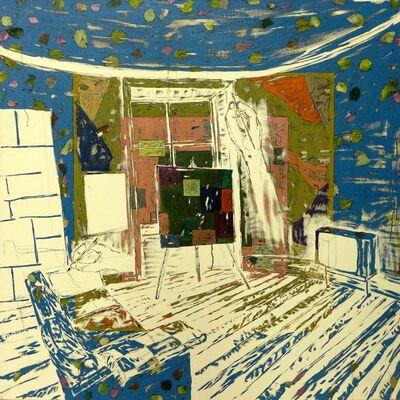Kaspar Bonnén, 'Painting in front of painting'