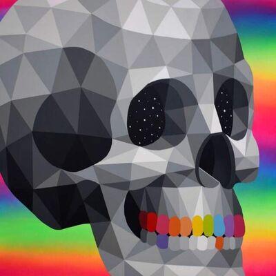 """Okuda, '""""Skull Mirror I""""', 2019"""