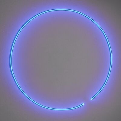 Stephen Antonakos, 'Untitled (Blue Neon Circle)', ca. 1974