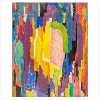 """James Daugherty, '""""Abstraction"""" Mid-Century Abstract Non-Objective Color Field oil painting modern', ca. 1960s"""