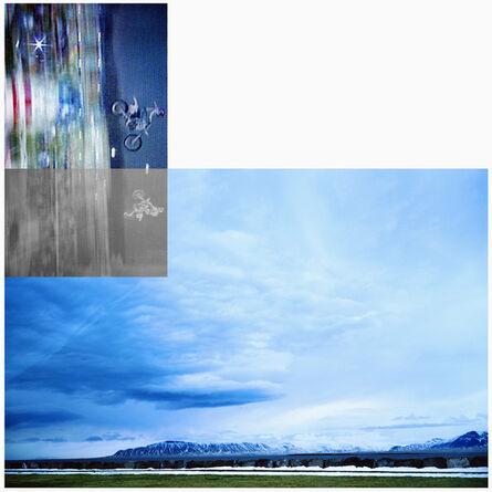 John Baldessari, 'Double Motorcyclists and Landscape (Icelandic)', 2003
