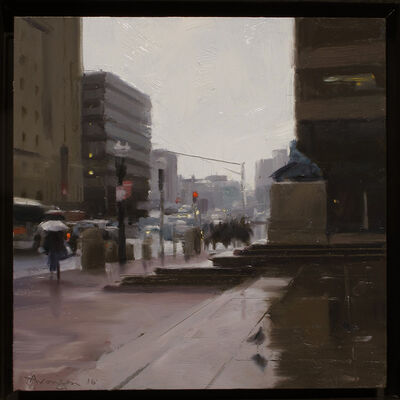 Ben Aronson, 'From the Steps of the BPL', 2016