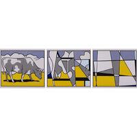 Roy Lichtenstein, 'Cow Going Abstract - Triptych', 1982