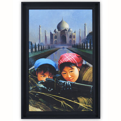 "Erró, '""Chairman Mao's Long Journey"" Taj Mahal (Thasma Haal)', 2020"