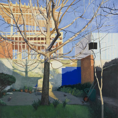 Kristin Headlam, 'The Blue Square: Landscape with Birds', 2013