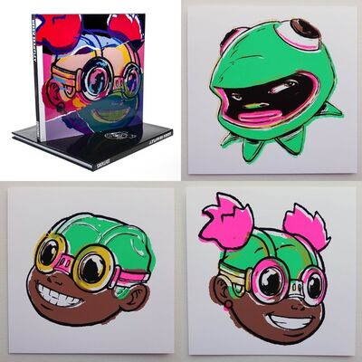 Hebru Brantley, 'Editions Deluxe Version (Book + Smile, Lilac, and Phibby Prints)', 2021