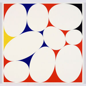 Cary Smith, 'Ovals #31 (red-blue0black-yellow)', 2015