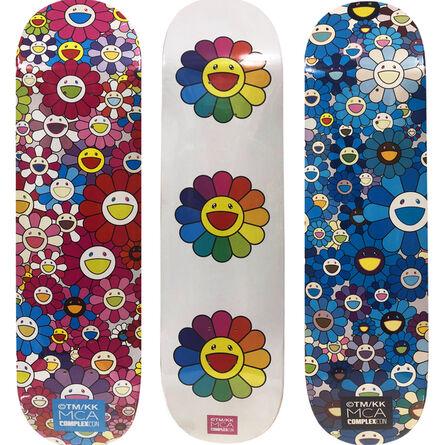 Takashi Murakami, 'Takashi Murakami Flowers Skateboard Decks (complete set of 3) ', 2017