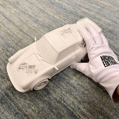 Daniel Arsham, 'Eroded Turbo 911 (White)', 2020
