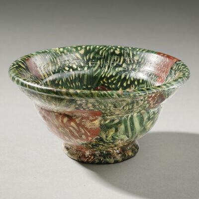 "Unknown Roman, 'Ancient Roman Green ""Millefiori"" Patella Cup', 1st century A.D."