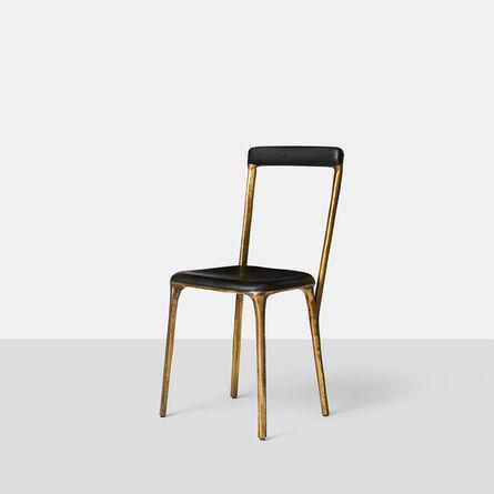 Valentin Loellmann, 'Charred Oak & Brass Side Chair', 2015