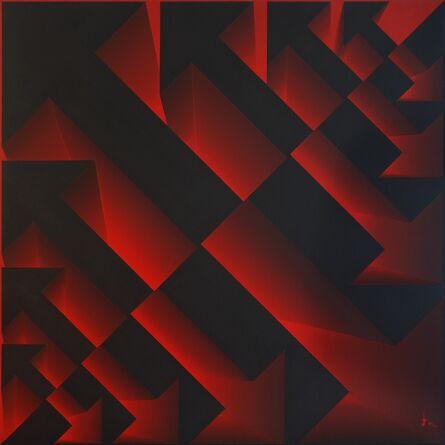 Lakshmi Mohanbabu, 'Primary Interactions Reverse Light - Red', 2017