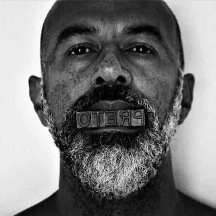 Sérgio Adriano H, 'Série Palavras Tomadas - Preto', 2020