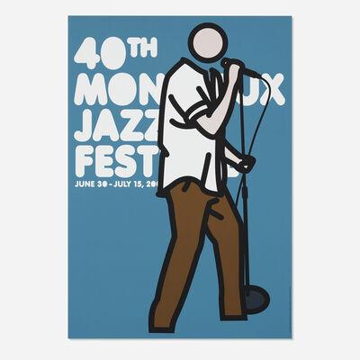 Julian Opie, 'Ian Vocals (40th Montreux Jazz Festival poster)', 2006