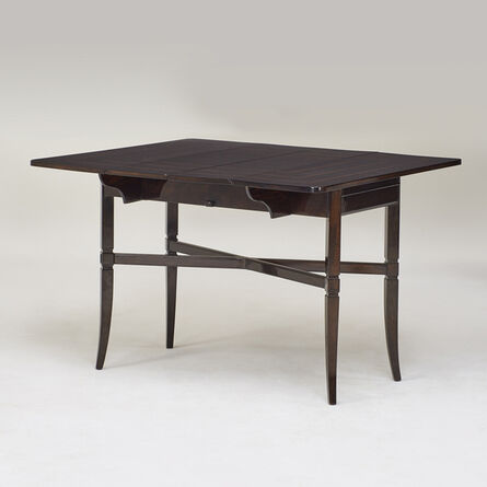 Charak Designs, 'Drop-leaf extension dining table', ca. 1950