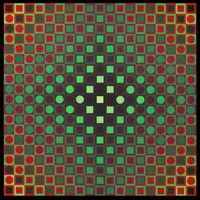 Victor Vasarely, 'BOGLAR VI', 1966