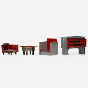 Ko Verzuu, 'Dollhouse furniture, collection of four'