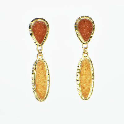 Michael Baksa, 'Peach Drusy and Apricot Drusy Quartz Earrings', 2019